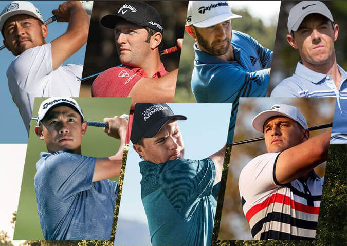 Lineup of Professional Golfers